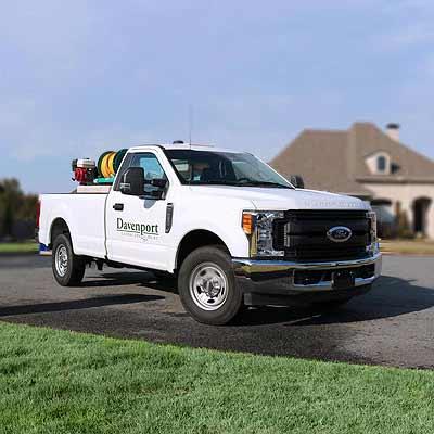 Davenport Landscape Management Truck