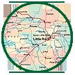Circle image of map